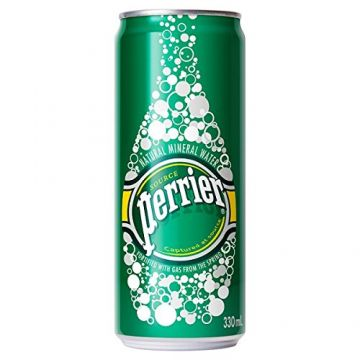 330ml can of Perrier mineral water