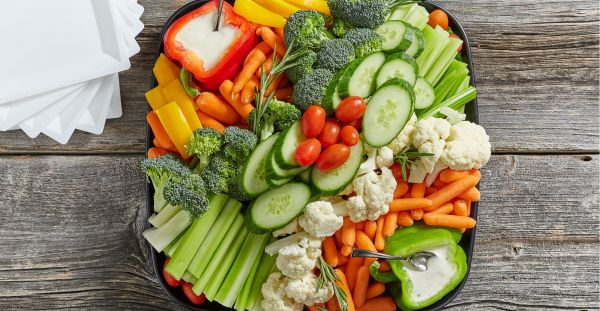 Assorted Vegetable Dip Tray served with Ranch dressing